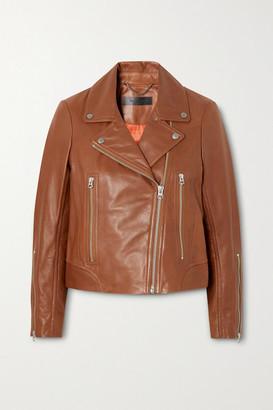 Rag & Bone Mack Leather Biker Jacket - Tan