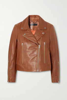 Rag & Bone Mack Leather Biker Jacket - Tan