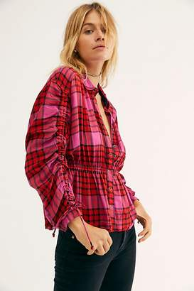 We The Free Pacific Dawn Plaid Shirt by at Free People