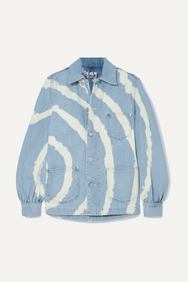 Ganni Bleached Denim Jacket - Light denim