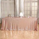 "B-COOL Champagne 90""x132"" tablecloth popular bridal dress tablecloth Wedding decoration"