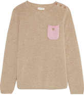 Chinti and Parker Two-tone Cashmere Sweater - Beige