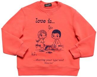 DSQUARED2 Love Is Capsule Cotton Sweatshirt