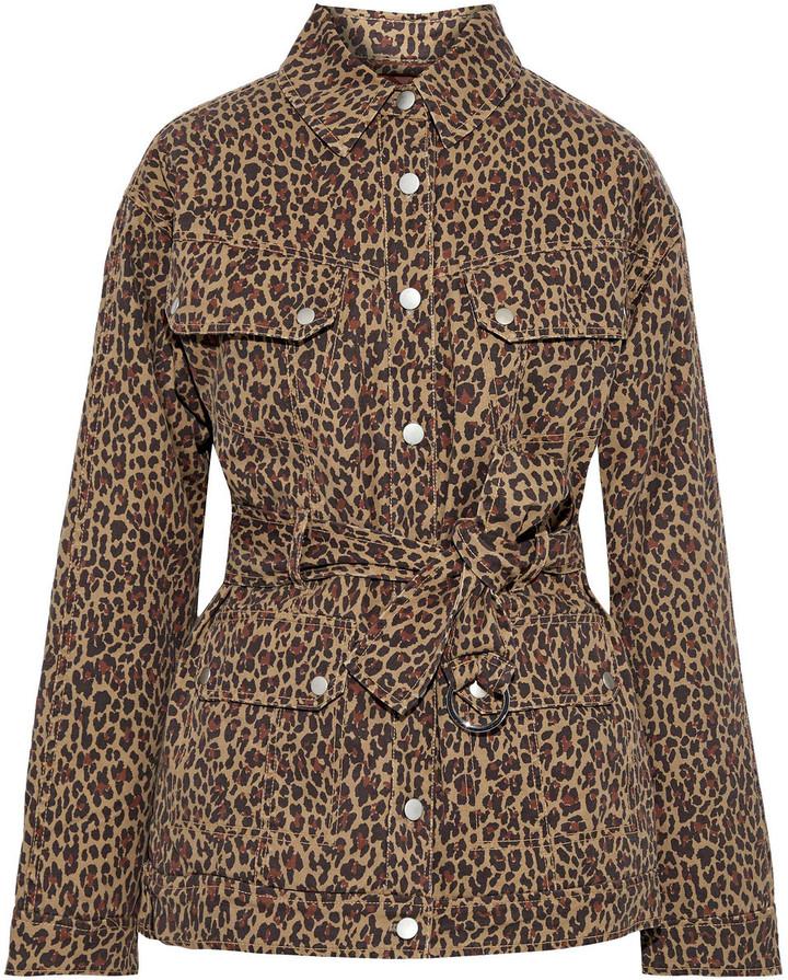 Marissa Webb Ellery Belted Leopard-print Cotton-twill Jacket