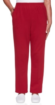 Alfred Dunner Petite Classic French Terry Proportioned Medium Pants