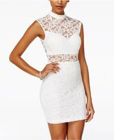 B. Darlin Juniors' Illusion Lace Bodycon Dress