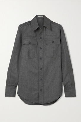 Stella McCartney Wool-flannel Shirt - Gray
