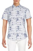 Calvin Klein Jeans Printed Cotton Short Sleeve Shirt