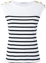 Pierre Balmain striped T-shirt - women - Cotton - 38