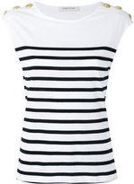 Pierre Balmain striped T-shirt - women - Cotton - 40