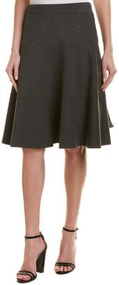 Three Dots Ponte Seamed Skirt