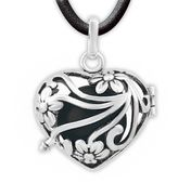Kushies Heart and Soul Angel Caller Maternity 23.5-Inch Chain Necklace in Black