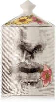 Fornasetti Fior Di Bacio Scented Candle, 300g - White