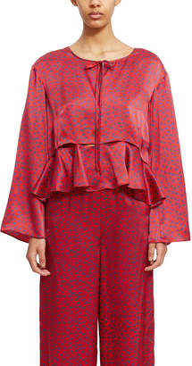 Opening Ceremony Cropped Flounce Blouse