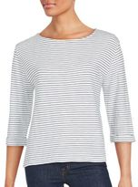 Soft Joie Striped Cotton Roundneck Tee
