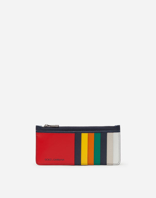 Dolce & Gabbana Multicolored Vertical Dauphine Calfskin Credit Card Holder