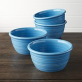Crate & Barrel Farmhouse Aqua Cereal Bowl, Set of 4