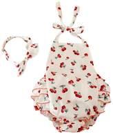 Baby Girl Swim Photography Prop Jumpsuit Ruffled Romper Bloomer PP Pants 0-12M