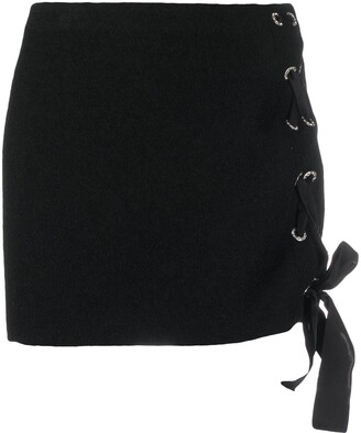 Alessandra Rich Lace-Up Mini Skirt