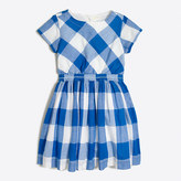 J.Crew Factory Girls' dress in oversized gingham