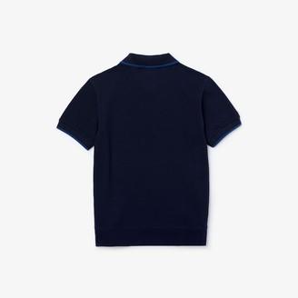 Lacoste Boys' Two-Tone Cotton Pique Polo