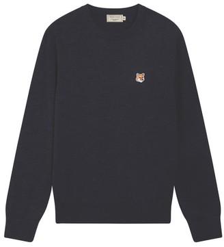 MAISON KITSUNÉ Fox Head wool jumper