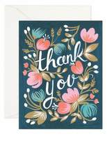 Rifle Paper Co. Eight-Pack Midnight Garden Thank You Note Set