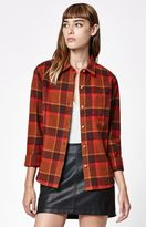 Obey Ruby Lake Plaid Flannel Button-Down Shirt
