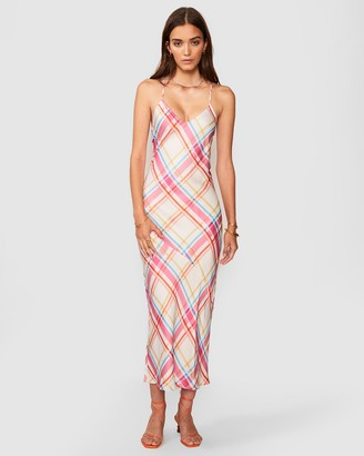 SUBOO Brigitte Check Print Slip Dress