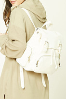Forever 21 FOREVER 21+ Faux Leather Flap-Top Backpack
