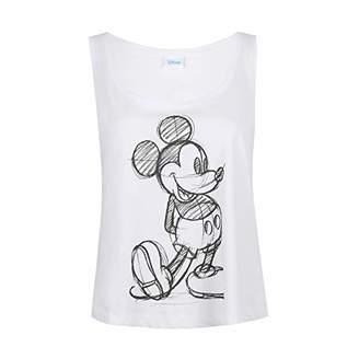 Disney Women's Mickey Sketch Vest Top,12 (Size:Medium)