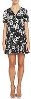 1 STATE V-Neck Short Sleeve Floral Shift Dress