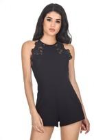 AX Paris Black Lace Playsuit