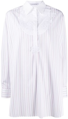 VIVETTA Embroidered Oversized Cotton Shirt