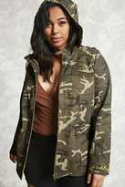 Forever 21 Plus Size Camo Patch Jacket