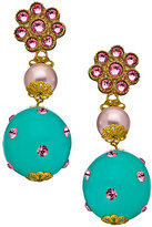 Santina Lucce Mint Green Studded Drop Earrings