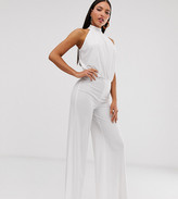 Flounce London Tall jumpsuit in white