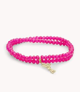 Fossil Love Collection Fuchsia Beaded Bracelet jewelry JF03340710