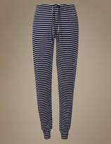 M&S Collection Cuffed Hem Striped Pyjama Bottoms