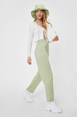 Nasty Gal Womens Work for It High-Waisted Seam Joggers - Green - 4