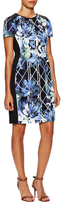 Vince Camuto Printed Solid Side Sheath Dress