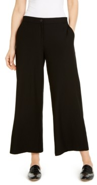 Eileen Fisher System Wide-Leg Ankle Pants