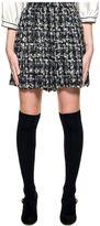 Dolce & Gabbana Black/gray/white Wool Tweed Short