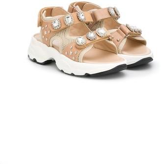 Ermanno Scervino Stud-Embellished Chunky Sandals