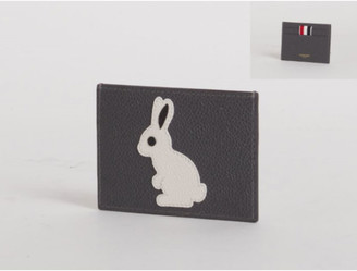 Thom Browne Men's Rabbit Icon Leather Card Holder w/ Note Compartment