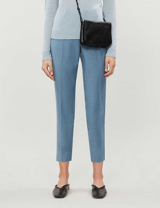 Theory Straight cropped wool trousers