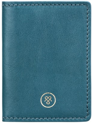Maxwell Scott Bags Petrol Full Grain Leather Oyster Card Case