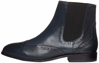 Find. Womens Leather Chelsea Boots Blue (Navy) 6 UK