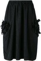 Comme des Garcons 3D flower appliqué skirt