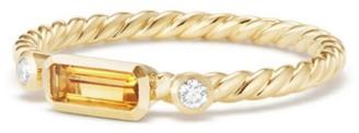 David Yurman Novella Ring in Gemstone with Diamonds